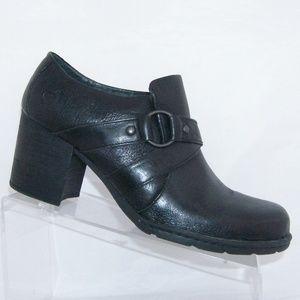 Born black leather slip on booties 10M EU 42
